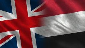 Het Verenigd Koninkrijk en Yemen royalty-vrije stock foto