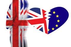Het Verenigd Koninkrijk uit lidmaatschap van de Europese Unie stock afbeeldingen
