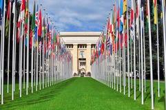 Het verenigde bouwen aan een natie, Genève Stock Afbeeldingen