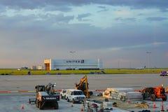 Het verenigde pakhuis van Denver luchthaven royalty-vrije stock foto