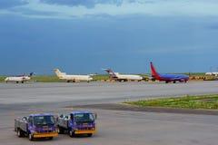 Het verenigde pakhuis van Denver luchthaven stock afbeeldingen