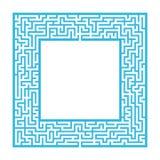 Het verfijnde kader van het kleuren vierkante labyrint Spel voor jonge geitjes en volwassenen Raadsel voor kinderen Één ingang, é royalty-vrije illustratie