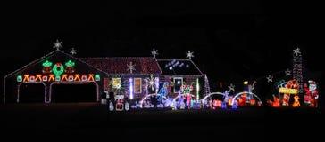 Het verfraaide Huis van Kerstmis Royalty-vrije Stock Afbeeldingen