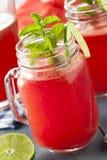 Het verfrissen van Eigengemaakte Watermeloen Agua Fresca Stock Afbeeldingen