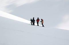 Het verfrissen zich van de skiër Stock Afbeelding