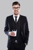 Het vergen van tijd voor koffiepauze Stock Afbeeldingen