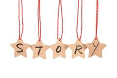 Het woord van het verhaal stock afbeeldingen