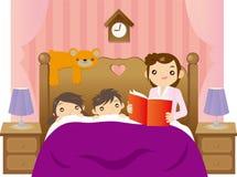 Het verhaal van de bedtijd Stock Foto's
