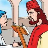 Het verhaal van de bijbel - de Gelijkenis van de Blijvende Weduwe Royalty-vrije Stock Foto