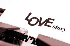 Het verhaal van de liefde Stock Foto's