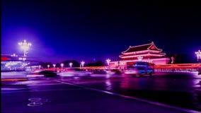 Het verkeer is dichtbij Tiananmen-Vierkant in Peking stock footage
