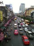 Het verkeer van Bangkok stock foto's