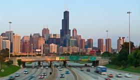 Het verkeer van Chicago. stock fotografie