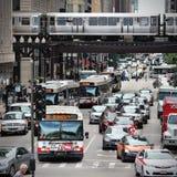 Het Verkeer van Chicago Royalty-vrije Stock Afbeelding