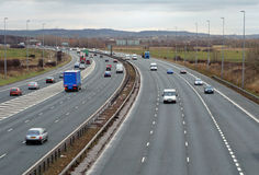 Het Verkeer van de autosnelweg Stock Foto's