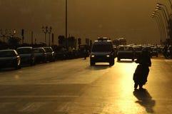 Het verkeer van de avond Stock Afbeelding