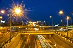 Het verkeer van de avond Royalty-vrije Stock Afbeelding