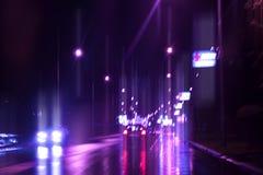 Het verkeer van de avond stock afbeeldingen
