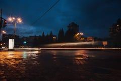 Het verkeer van de avond Royalty-vrije Stock Afbeeldingen