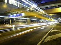 Het Verkeer van de binnenstad bij Nacht Royalty-vrije Stock Foto