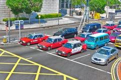 Het verkeer van de binnenstad in Hongkong Royalty-vrije Stock Fotografie