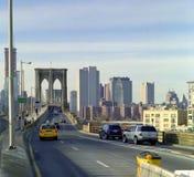 Het Verkeer van de Brug van Brooklyn van de Stad van New York stock afbeeldingen