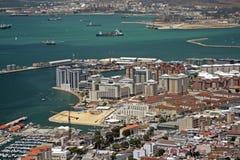 Het verkeer van de de havenbaai van Gibraltar Royalty-vrije Stock Foto's