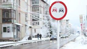 Het Verkeer van de de winterstad stock videobeelden