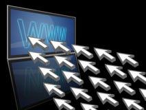 Het verkeer van de het conceptenwebsite van Internet Royalty-vrije Stock Afbeeldingen
