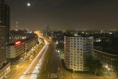 Het verkeer van de middernacht Stock Fotografie
