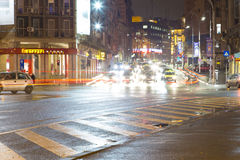 Het verkeer van de nacht Royalty-vrije Stock Fotografie
