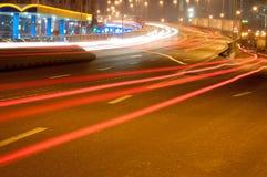 Het verkeer van de nacht Royalty-vrije Stock Foto's