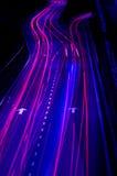 Het verkeer van de nacht Royalty-vrije Stock Foto