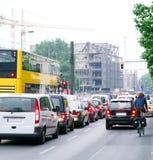 Het verkeer van de ochtend stock foto