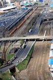 Het verkeer van de spoorweg Stock Foto