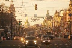 Het verkeer van de straat royalty-vrije stock foto's