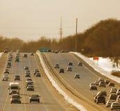 Het verkeer van de winter stock afbeeldingen