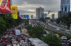 Het verkeer van Djakarta Royalty-vrije Stock Foto's