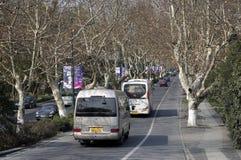 Het verkeer van Hangzhouaantrekkelijkheden Stock Afbeelding
