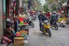 Het verkeer van Hanoi Stock Fotografie