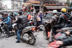 Het verkeer van Hanoi Stock Foto