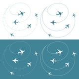Het verkeer van het vliegtuig rond de wereld Royalty-vrije Stock Afbeelding