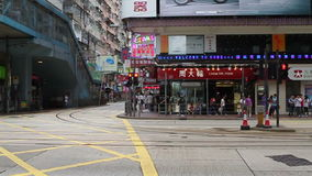 Het verkeer van Hongkong stock video