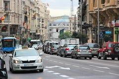 Het verkeer van Madrid stock afbeeldingen