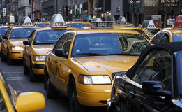 Het Verkeer van New York Stock Afbeeldingen