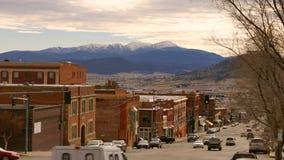 Het Verkeersbutte Montana Downtown United States van de granietaandrijving stock footage