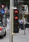 Het verkeerslicht van de fiets Stock Fotografie