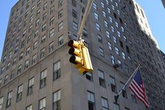 Het verkeerslicht van New York Stock Afbeelding