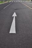 Het verkeerssymbool van de pijl Stock Fotografie