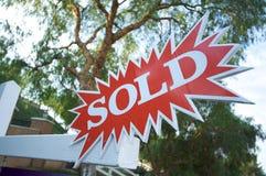 Het verkochte Teken van de Uitbarsting Stock Afbeelding
